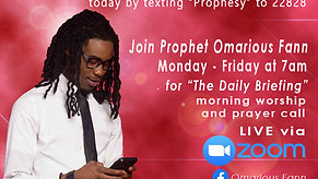 The Prophetic Daily Briefing 1-29-21