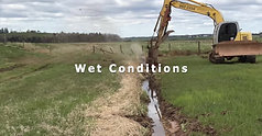 Ditch Doctor DD15 in wet conditions