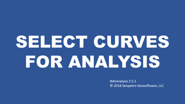 3. Select curves for analysis