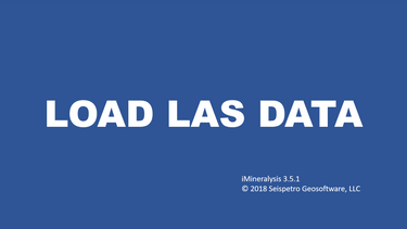1. Load LAS data
