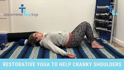 Restorative Yoga to Relieve Cranky Shoulders