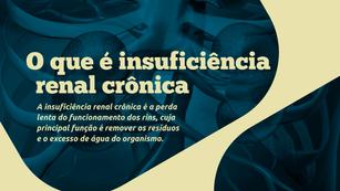 TV CCR | INSUFICIÊNCIA RENAL CRONICA