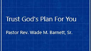 Trust God's Plan For You
