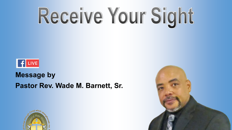 Receive Your Sight