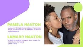 Pamela (Manager of Technical Design for Men's Knits & Sweaters) & Lamarr Nanton (Senior Designer for Men's Outerwear)