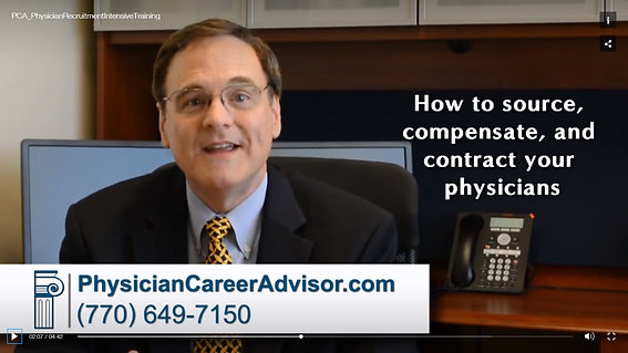 How to Contract, Compensate & Employ Physicians: Physician Recruitment Intensive Training Seminar