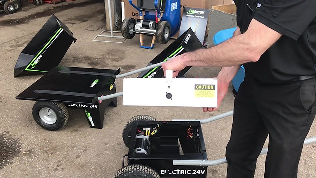 Up close video of removing battery pack