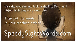 High Frequency Word Lists