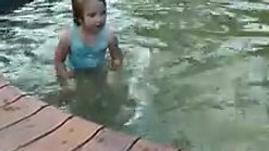 Skyla is swimming