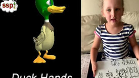 Lara using Duck Hands while Code Mapping