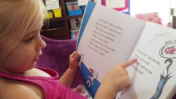 4 years old - Dr Seuss, reading for pleasure
