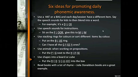 Phonemic Awareness and the Speech Sound Pics Approach