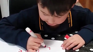 Watch this gorgeous preppie learning the high frequency words from PM levels 1-10, in the SSP Monster Mapping app! 👏🏻👏🏻👏🏻👏🏻👏🏻🤩__And his fabulous letter..._HD