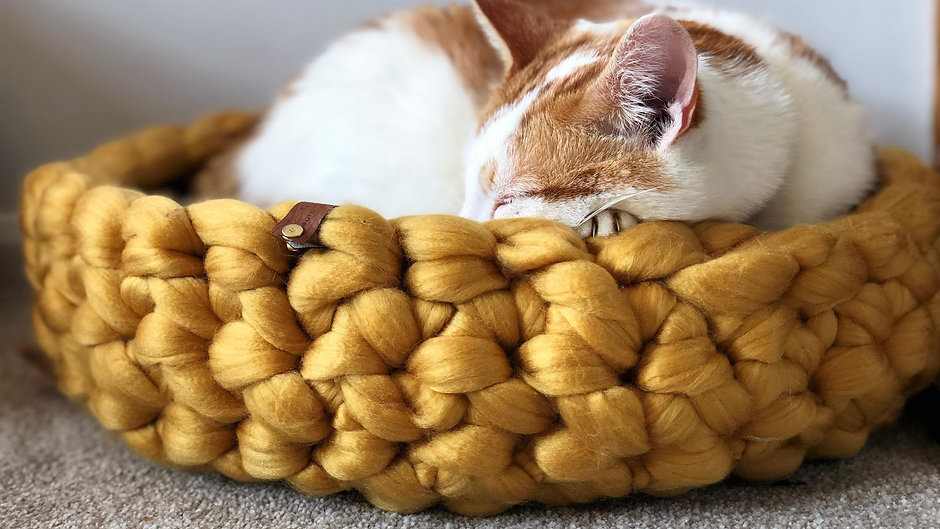 Giant Crochet Cat Bed Tutorial