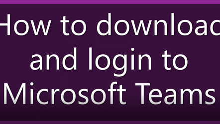 How to download and login to Teams