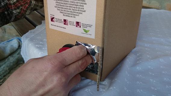 Bag in Box szelep használata
