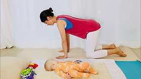 Activate core, back and glutes Postnatal Pilates level 1 series