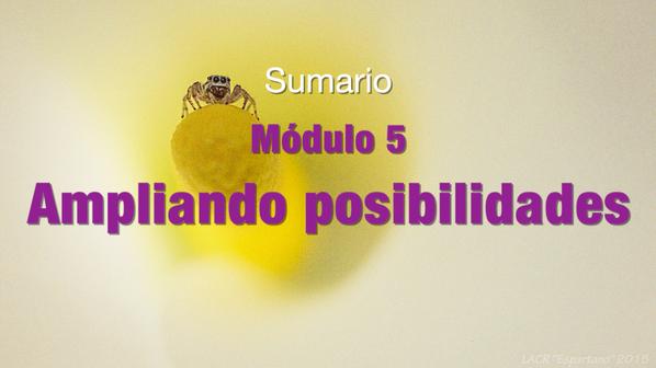 SUMARIO Modulo 5 Ampliando posibilidades (GRATIS)