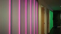 Iomart Offices Hallway Animated Glass