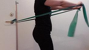 Övning med träningsband/Theraband