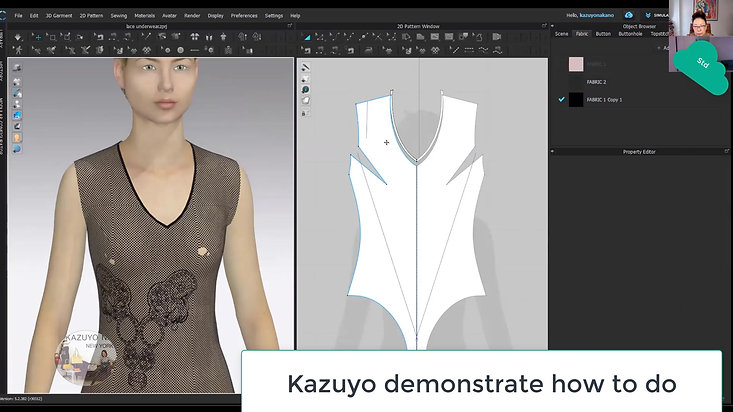 How Kazuyo teach CLO3D live online