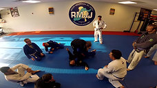BJJ class Toe hold knee bar