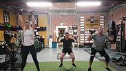 Squat into Shoulder Press & Calf Raise