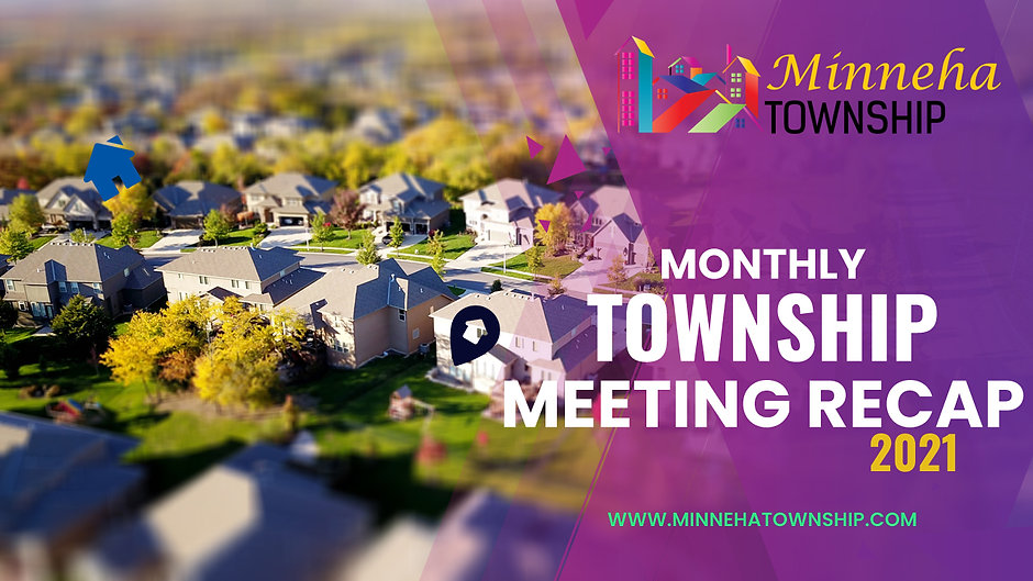 2021 Monthly Township Meetings