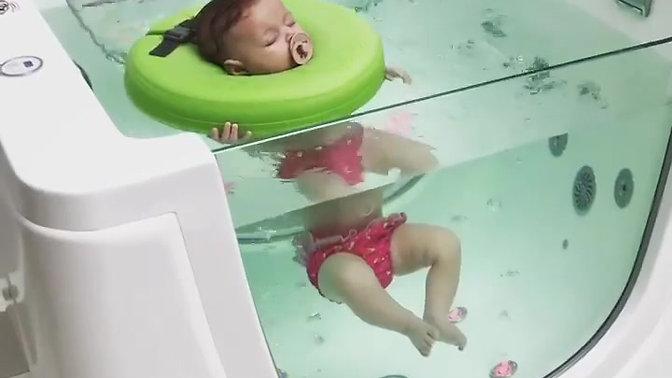 Slapen tijdens hydrotherapie