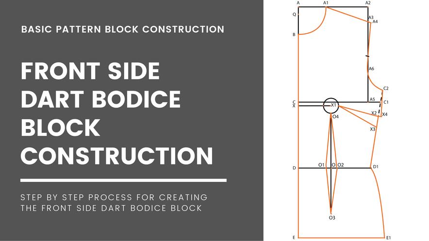 Side Dart Bodice Block(Front)