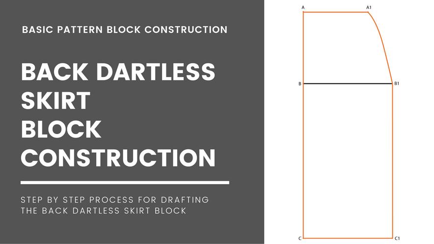 Dartless Skirt Block (Back)