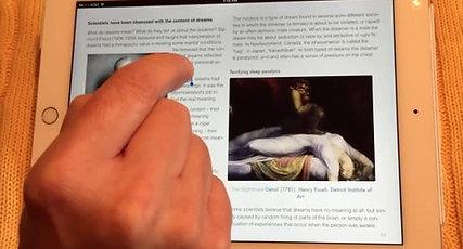 Reading iBooks on iPad