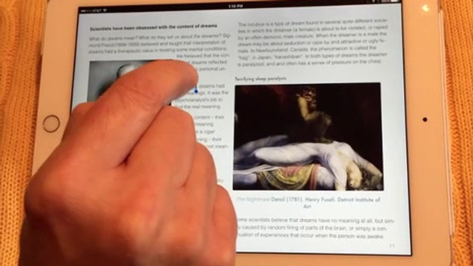 Reading iBooks on iPads and Macs