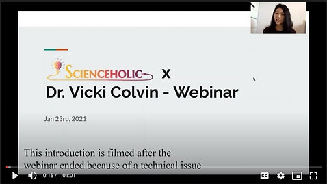 Dr. Colvin's Webinar