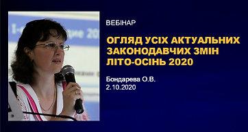 Обзор всех актуальных законодательных изменений лето-осень 2020
