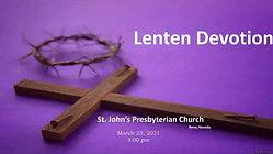 032321 Lenten Devotional