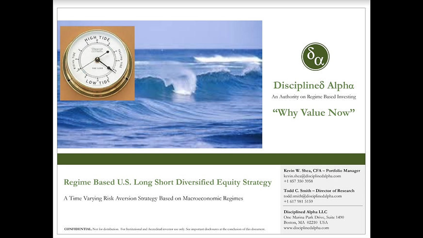 Disciplined Alpha: Why Value Now