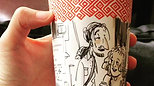 Peet's coffee cup drawing