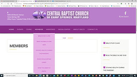 Central Baptist Church of Camp Springs Website Before