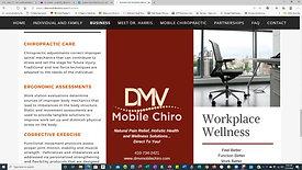 DMV Mobile Chiro Website After