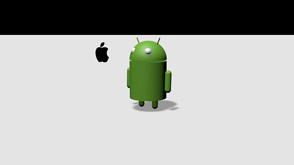 """""""Android vs. Apple"""" (3D Animation)"""