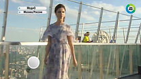 Russia. Modest Fashion Week on the roof of a skyscraper