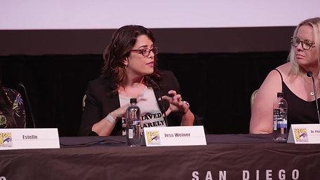 Jess Weiner speaks at Comicon San Diego