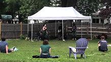 Cowboy Themed Concert in  Owen's Backyard