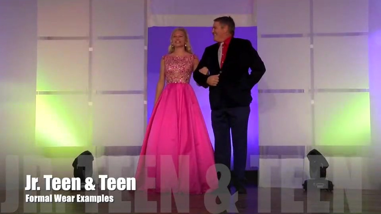 Pre-Teen, Jr. Teen, & Teen Formal Wear Examples