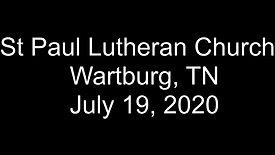 Sunday July 19, 2020