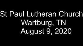 Sunday August 9th 2020