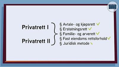 Informasjonsvideo om Privatrett
