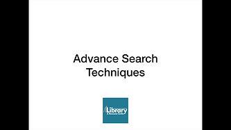 Advance Search Techniques