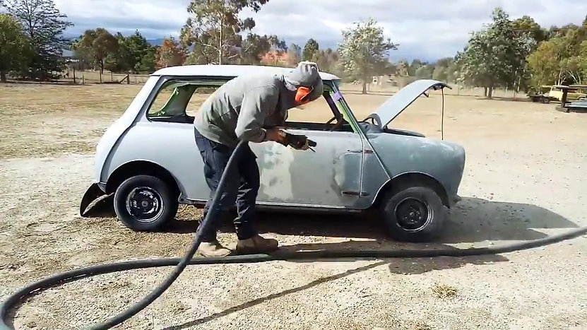 Blasting of a Mini in a time laps
